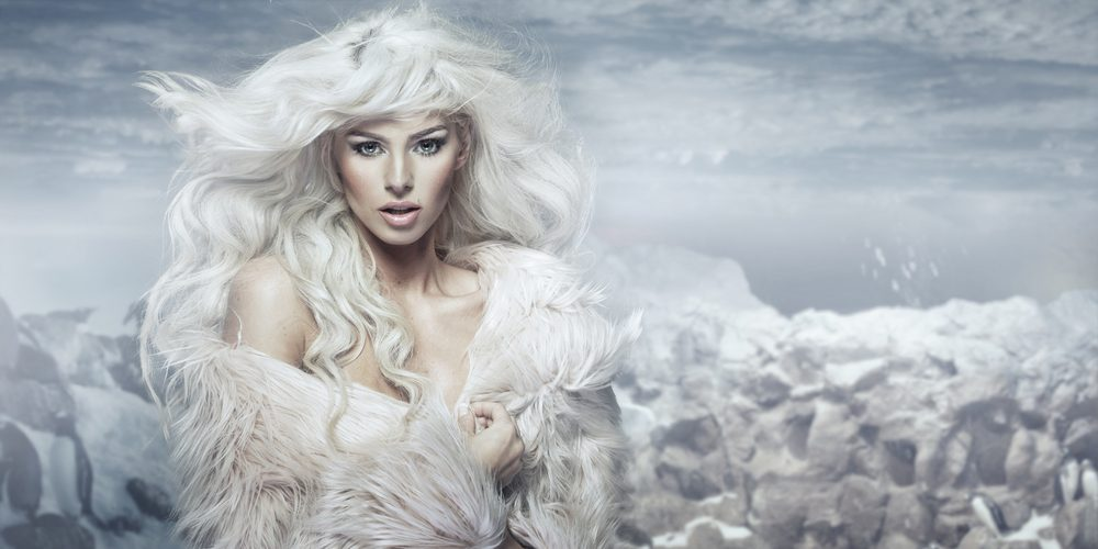 protect hair from snow and cold