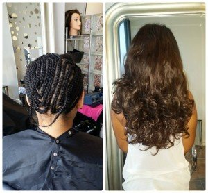 Braided Sew In extensions example.