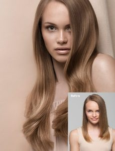 Fusion Hair Extensions Before and After Example.