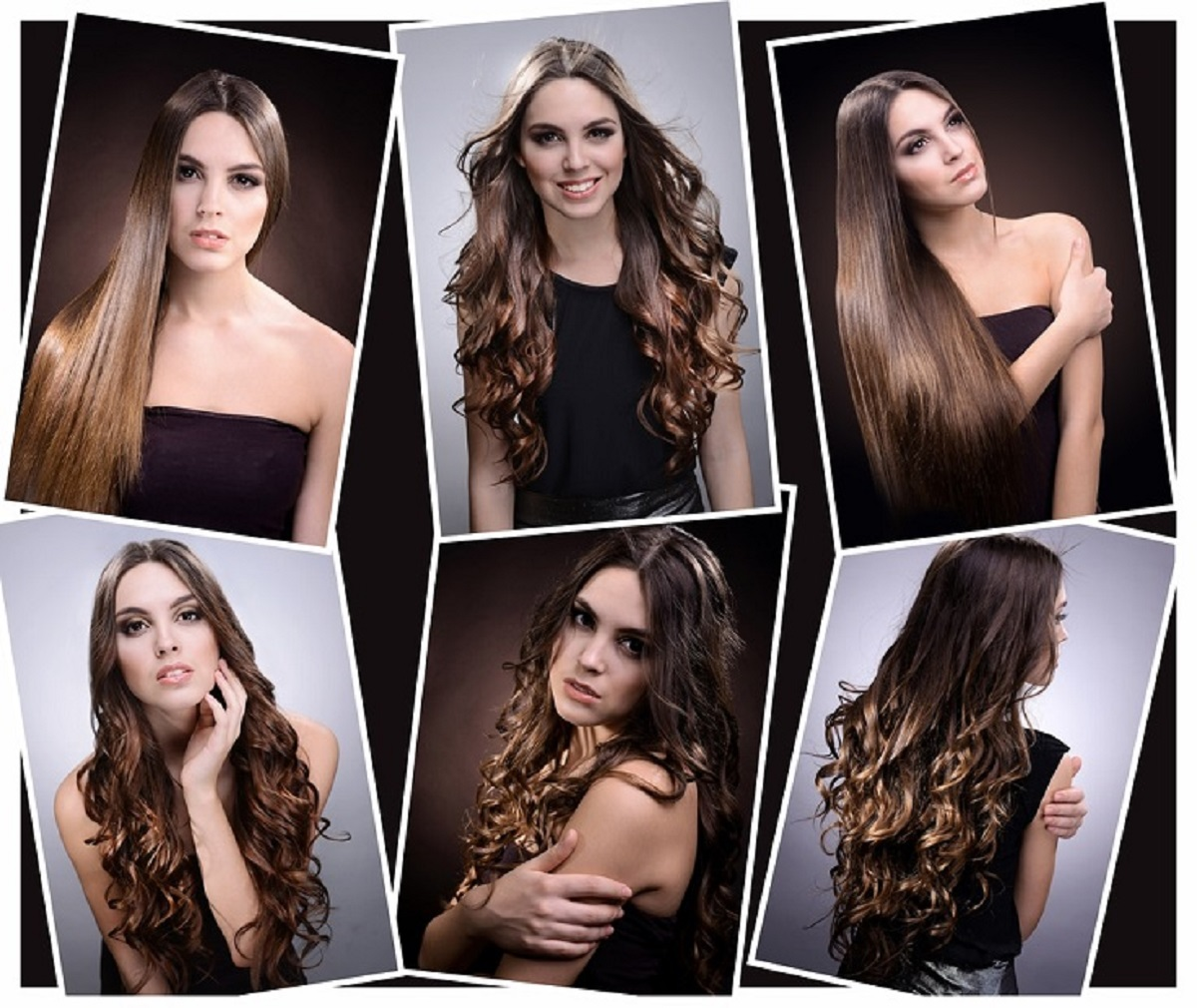 Videos of hair extensions applications.