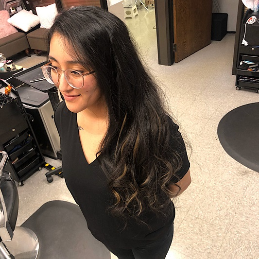 Natural Beaded Rows With Multiple Wefts Used